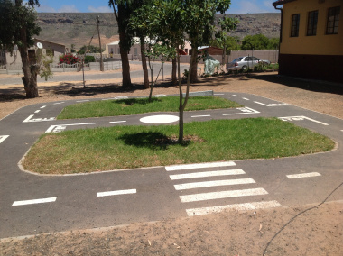 The junior traffic training centre at Aurora High School.