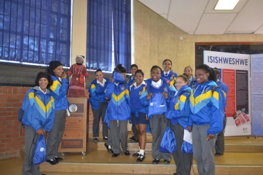The learners from Swartberg High School were excited to be a part of the Girl Love Yourself Programme.