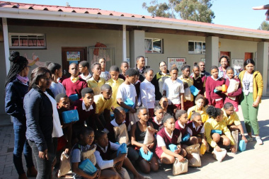 The learners receive branded lunchboxes to instill the Olympic experience in a tangible way