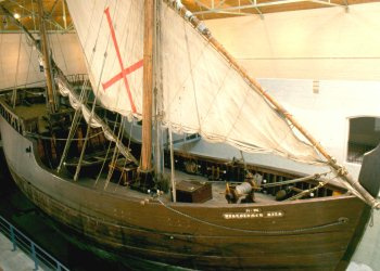 The life-size replica of the Bartolomeu Dias ship on display at the museum