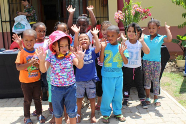 The little ones from the Buffeltjies Crèche made sure that they are the centre of attention on the day