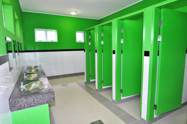 The male toilet facility for intermediate phase learners.