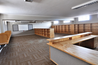 The media centre at the school.