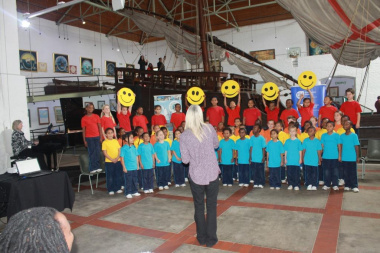The Milkwood Primary School choir performed at the Women's Day celebrations in Mossel Bay