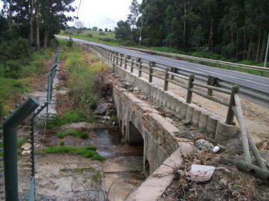 The  Modder River Bridge before construction.