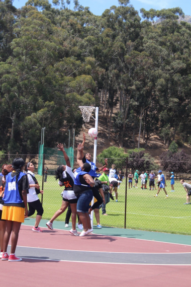 The netball ladies passionately played the game that they all love