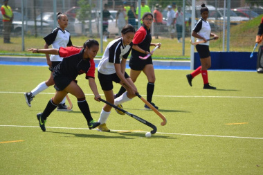 The new astro turf was tested with a hard-fought hockey match
