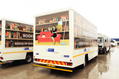 The new corporate fleet of DCAS Library Service will be identified by its striking corporate artwork