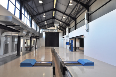 The new vehicle testing centre.