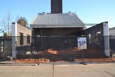 The unused boiler room at Vredendal Hospital under construction.