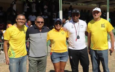 The organising Committee from left Manfred Jacobs, Hilton Joemat, Rosaline Wolmarans, Ayandla Godlo and Jeremy Matheyse.