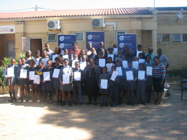 The participants from Ikhaya and Khayamandi Primary School.