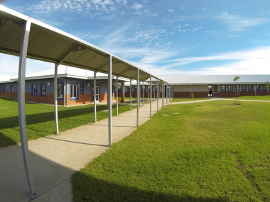 The playing areas at the school