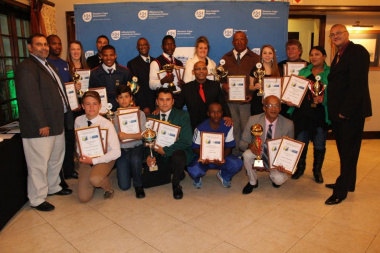 The proud winners at the Overberg District Sports Awards 2015