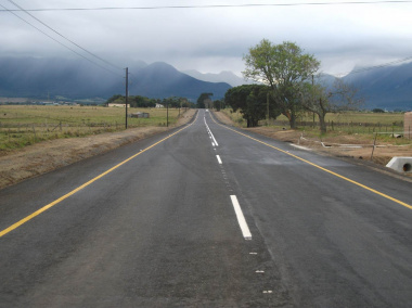 The R404 in Blanco after construction.