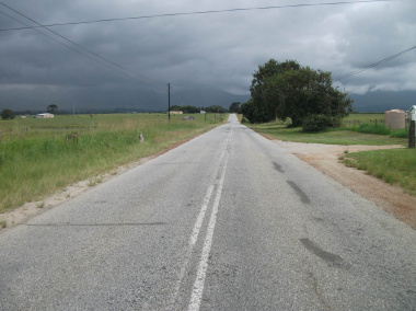 The R404 in Blanco before construction.