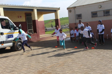 The relay was a big highlight of the Olympic Day activities