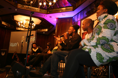 The Robert Glasper Experiment with Thandiswa Mazwai and hosts Bokani Dyer and Sakhile Moleshe.