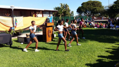 The Sarafina group performed at the Africa Day event at the Saldanha Public Library