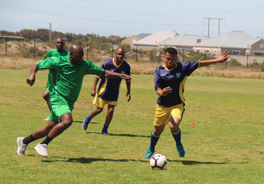 The soccer matches in Saldanha were as competitive as ever