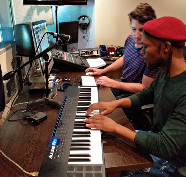 The song writing competition winners had their second day in the recording studio on Wednesday 9 October