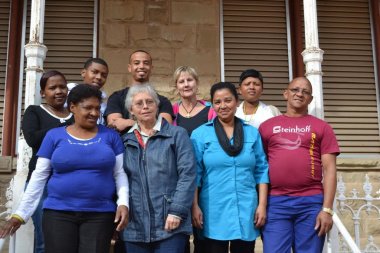 The staff at the CP Nel Museum with Minister Marais