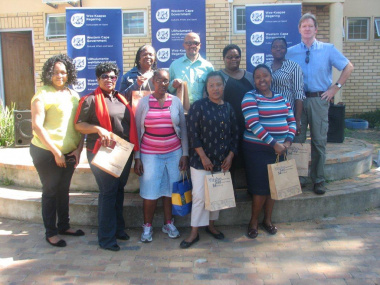 The teachers of particpating schools with Beaulla Stofile and Quintus van der Merwe
