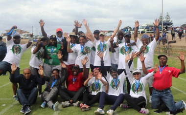 The team from George and Diaz Museum were excited after completing the fun run and walk.