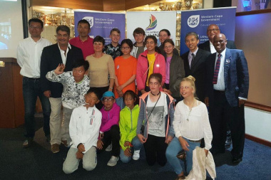 The team from Qingdao with representatives from DCAS and SASWC