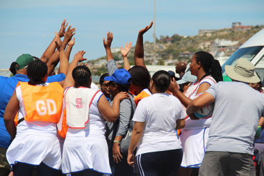 The team spirit was clear for everyone to see during netball matches
