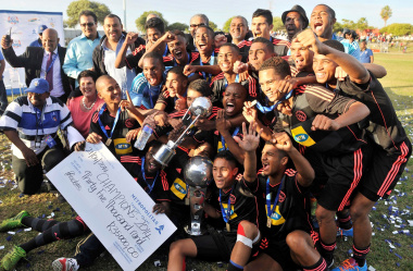 The victorious Ajax Cape Town team. Photo by Bruce Sutherland