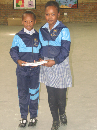 The winners of the reading competition from Isiphiwo Primary School