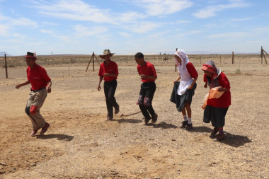 The Witzenberg Riel dancers treating guests to a performance