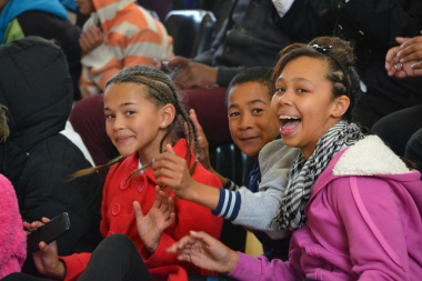 The young audience members enjoyed the performances