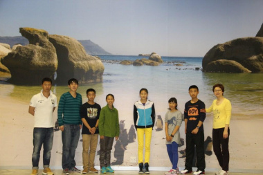 The youth delegation from the Qingdao Water Sports Administration Centre in Shandong, China, led by their team leader Ms Niu Yun