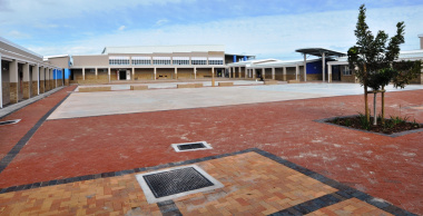 There are dedicated open and secure courtyards for each school phase.
