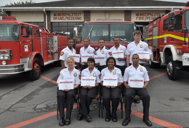 These firefighters are now full-time employees.