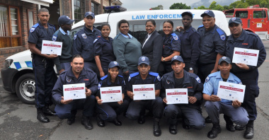 These former EPWP beneficiaries are now law enforcement officers.