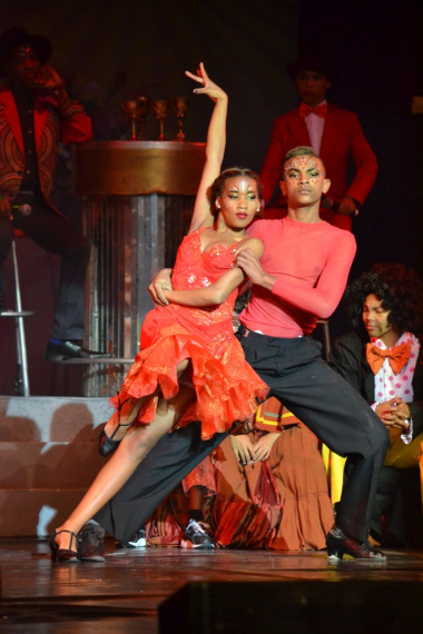 These young ballroom dancers performed an impressive Tango
