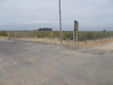 The relocation of the electrical fence.