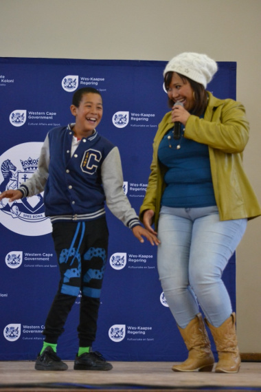 This young man couldn't stop smiling after Karen Kortje asked him to dance with her on stage
