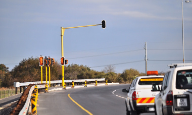 Traffic lights on a section of the R310 will be activated next week.