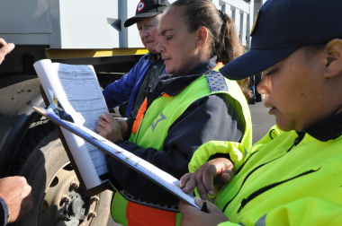 Traffic officers issued fines to operators.