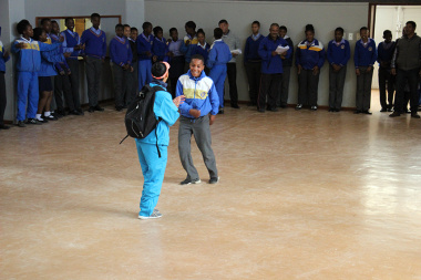 Two learners enjoying the dance sport activity