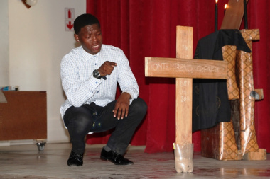 Ukubanga Kwegazi performing their play Blood in Demand