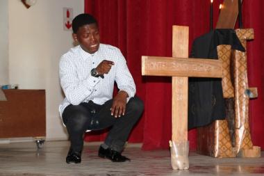 Ukubanga Kwegazi performing their play Blood in Demand