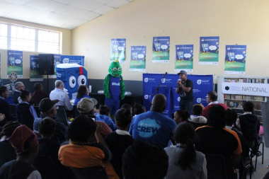 """Upbeat hip hop performance at NBW launch in Matjiesfontein by Ashwin """"Lyric"""" Hannes touched on social issues"""