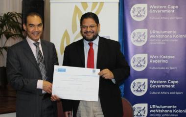 UWC Vice Chancellor Prof. Tyrone Pretorius and DCAS Head of Department Brent Walters signed a memorandum of understanding.