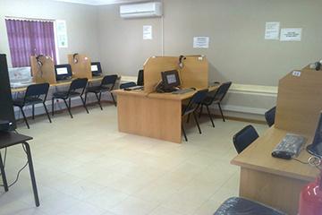 Inside the Vanrhynsdorp e-Centre.