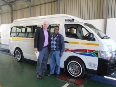 Minister Carlisle Joins SANTACO's Mandla Mata for Free Vehicle Safety Test
